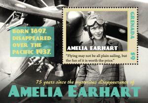 Amelia Earhart Briefmarke zu Ehren der Pilotin.
