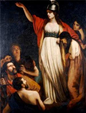 Königin Boudicca, Gemälde von John Opie