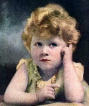 Elisabeth mit drei Jahren auf dem Time Magazin.