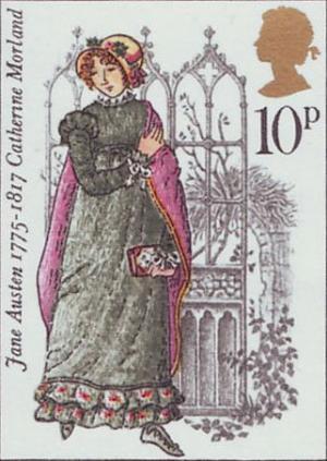 Briefmarke England Jane Austen.