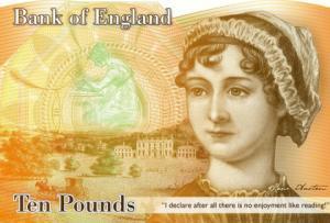 Bank of England Geldschein zu Ehren von Jane Austen.