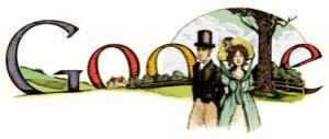Google Doodle zum 235. Geburtstag von Jane Austen.