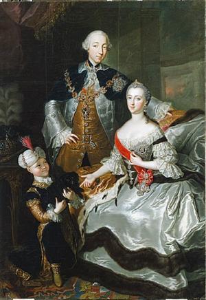 Kaiserin Katharina mit Ehemann und Kind