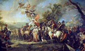 Siegreiche Katharina die Große beim Krieg gegen die Türken