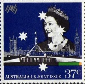 Königin Elisabeth Briefmarke Australien