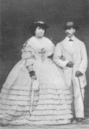 Königin Isabella II. von Spanien und ihr Ehemann.