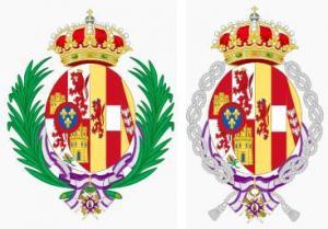 Wappen der Königin Maria Christina von Spanien.