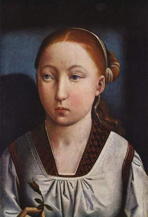 Prinzessin Katharina von Aragon als junges Mädchen.